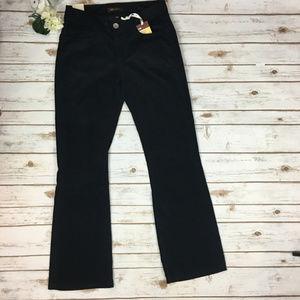 Lee One True Fit 10M Black Bootcut Corduroy Pants